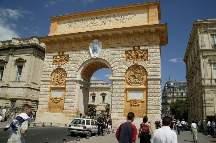 arc de triomphe à Montpellier