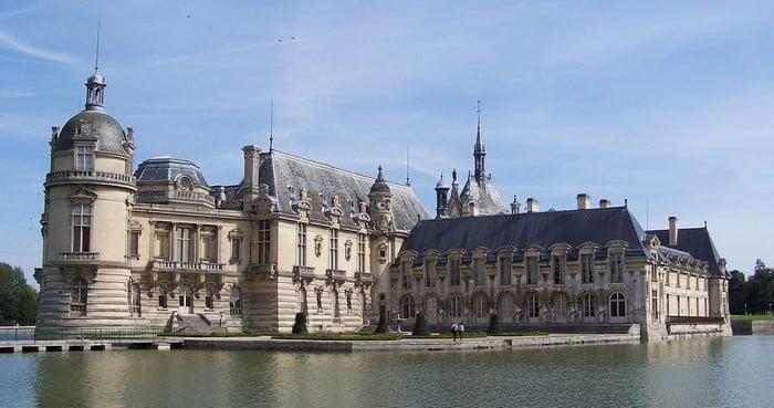 le château de chantilly dans l'Oise