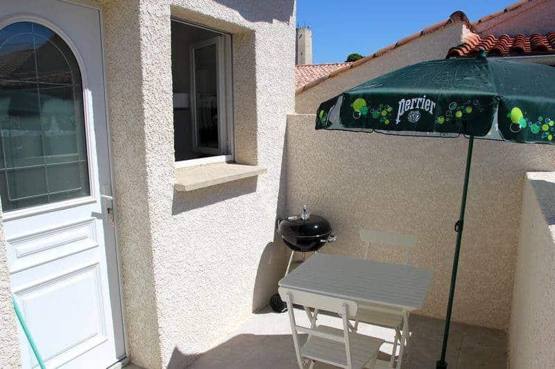 terrasse du studio de vacances